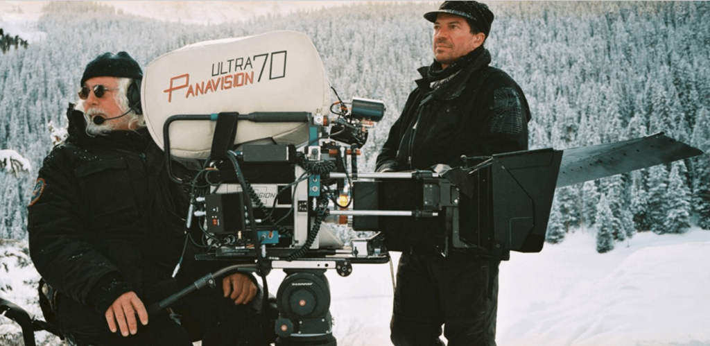 Bob Richardson on the set of Hateful Eight